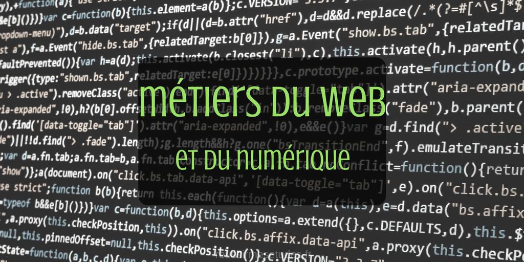 les m u00e9tiers du web et du num u00e9rique