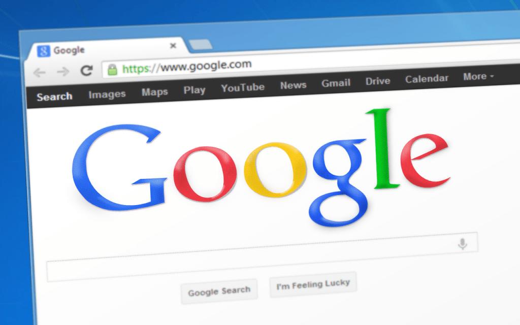 Page d'accueil Google